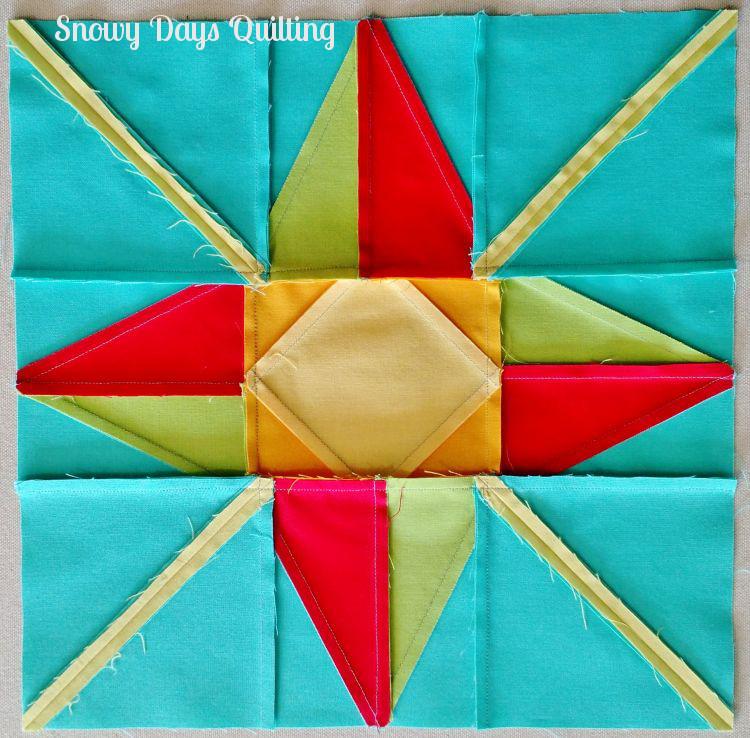 pressing north star quilt block