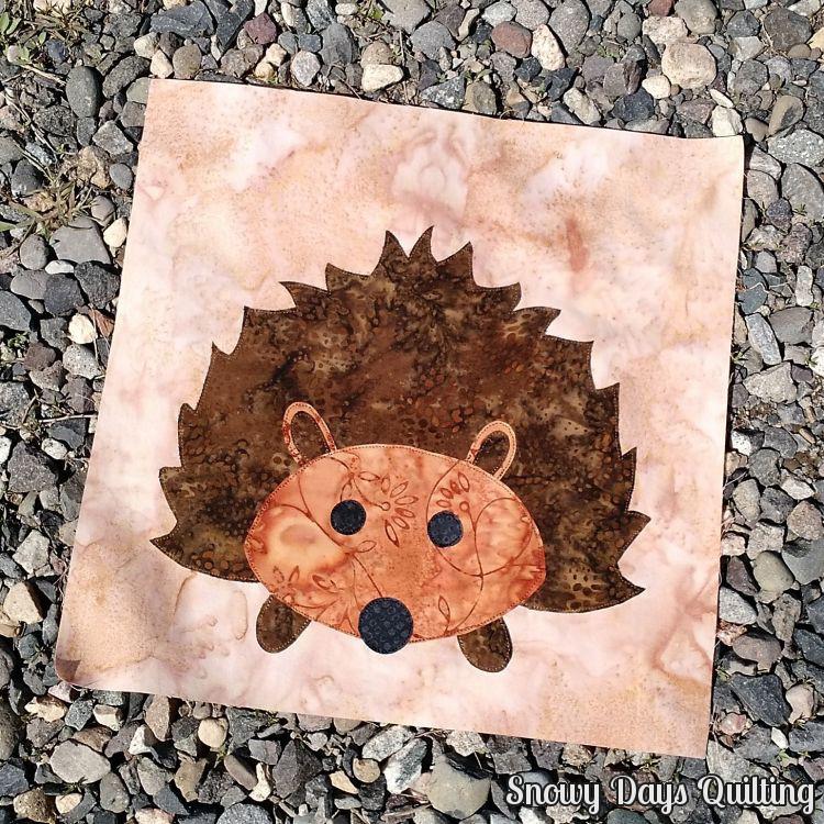 hedgehog quilt block