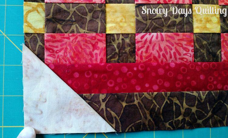 stitch and flip harvest basket quilt block