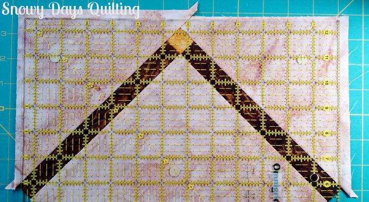 trimming handle of harvest basket quilt block