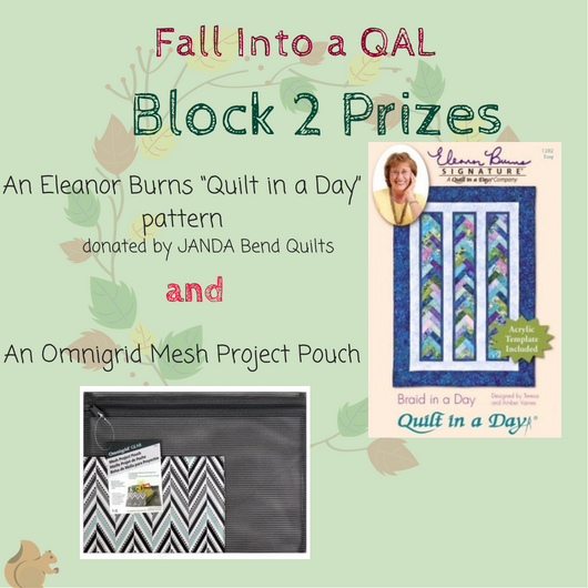 Fall into a Quilt Along prizes