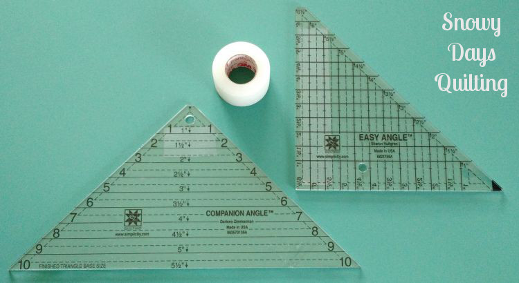 easy angle and companion angle rulers flying geese tutorial