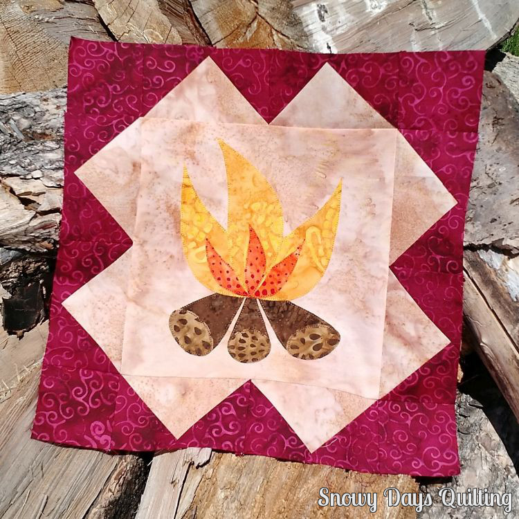 bonfire quilt block
