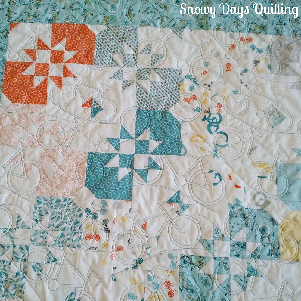 The computerized system lets you quilt intricate designs with ease.