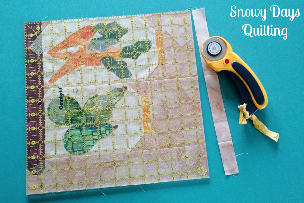 pieced beveled shelf quilting