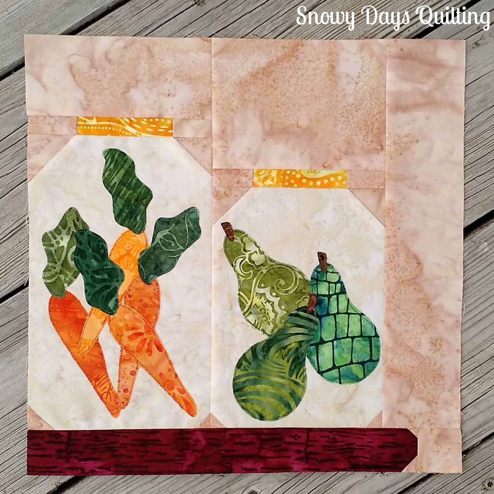 canning jars pieced quilt block