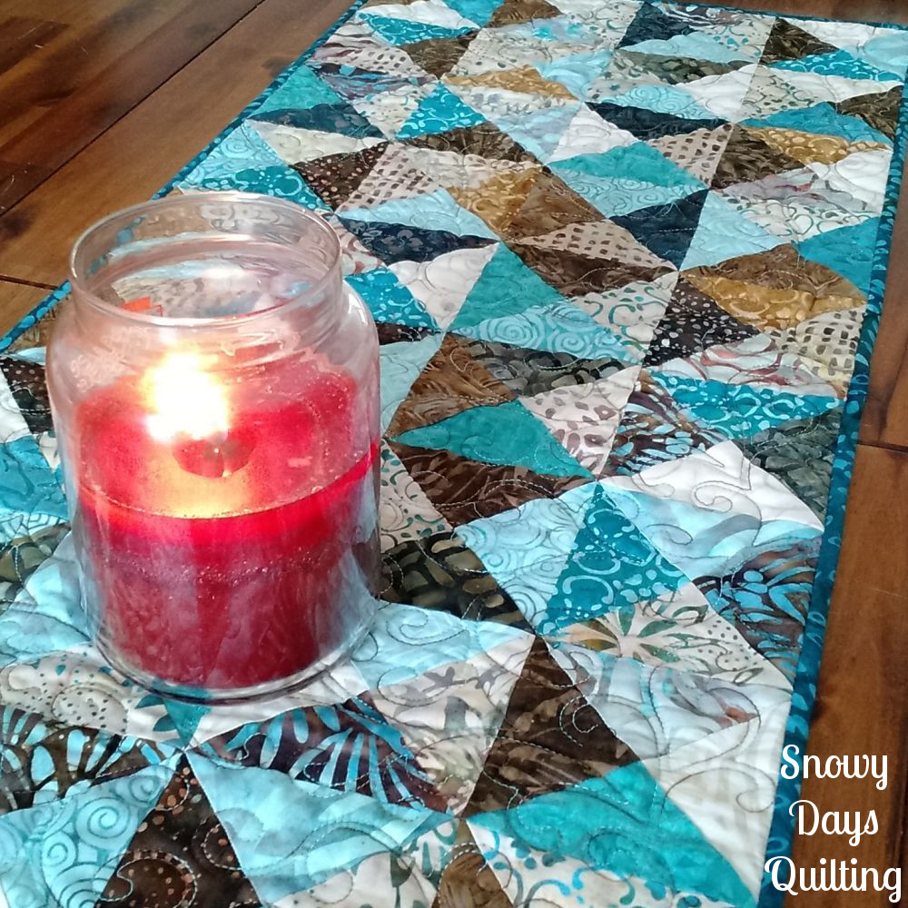tonga romance scrappy table runner