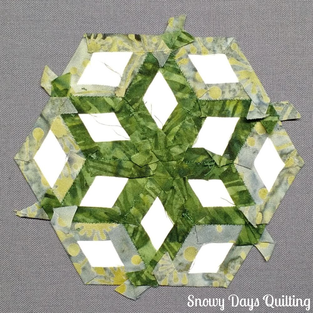 learn how to english paper piece diamond coaster