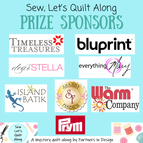 Sew Let's QAL prize sponsors