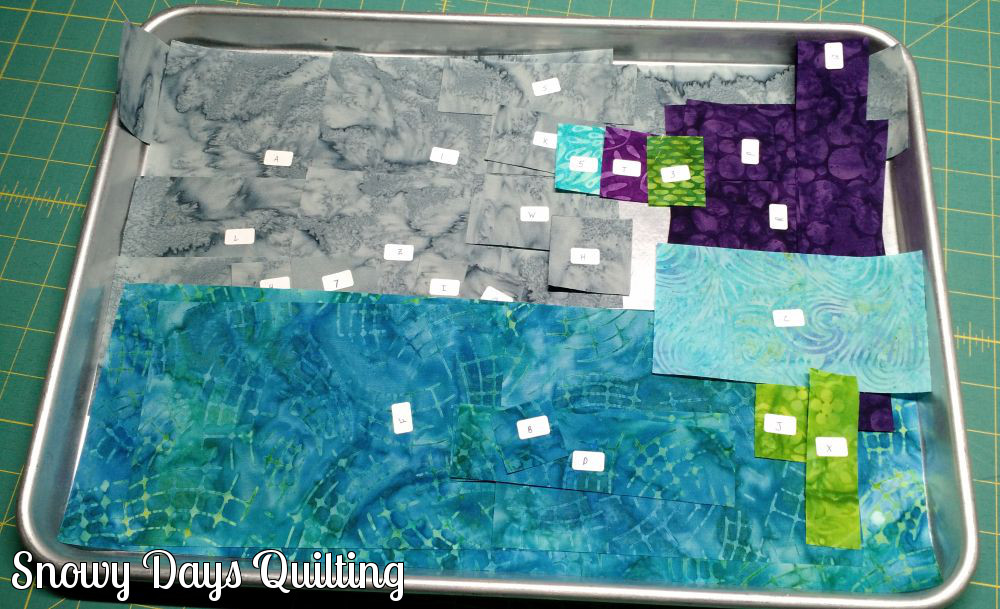 keeping quilting pieces organized