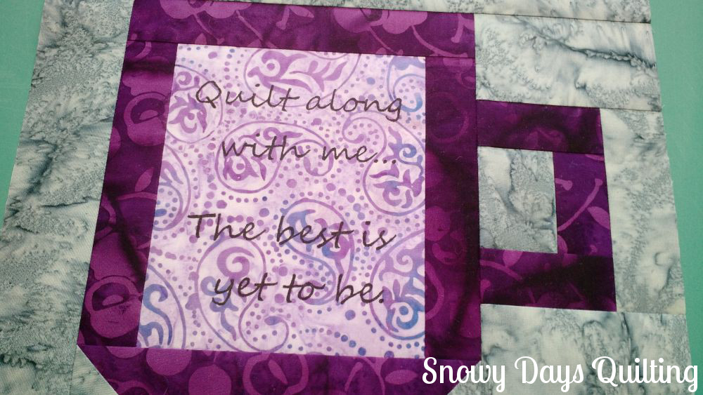 text in quilt blocks