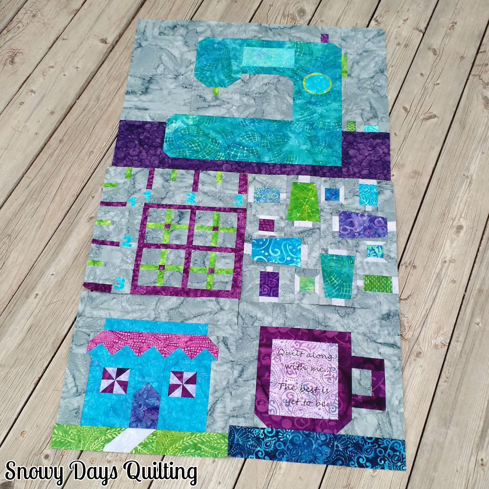 sewing themed quilt wall hanging