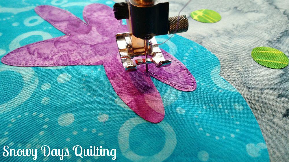 stitching around corners applique