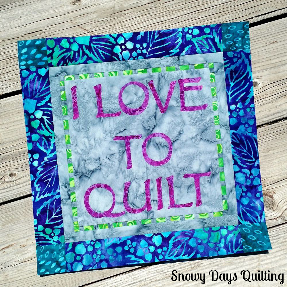 I Love to Quilt block