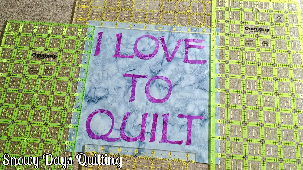 use rulers to place applique