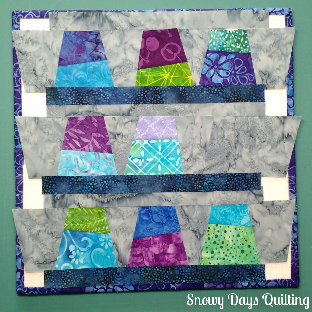 quilt block design board in use