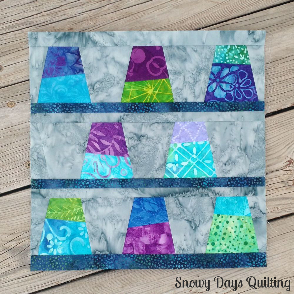 wonky thimbles quilt block
