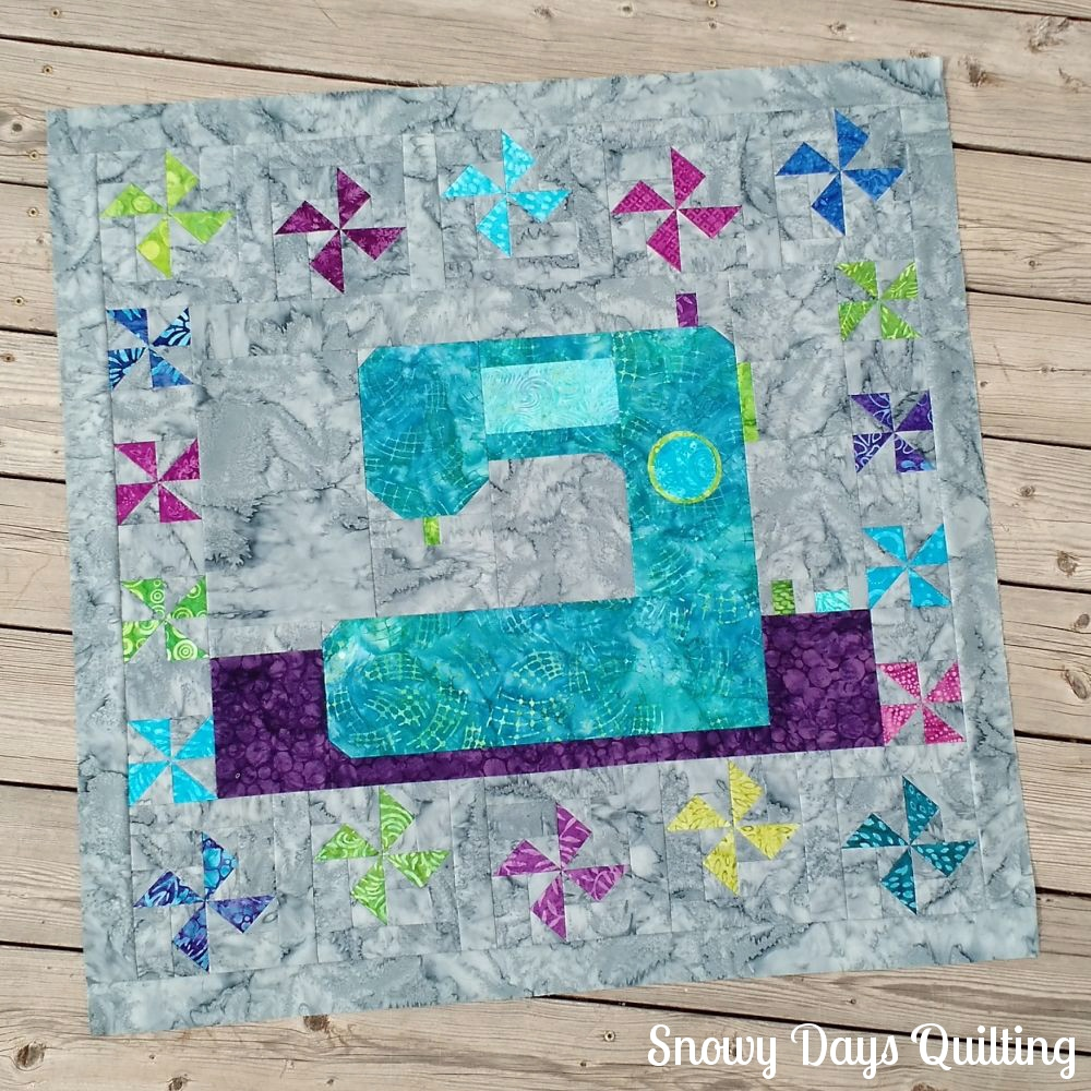 sewing machine wall hanging