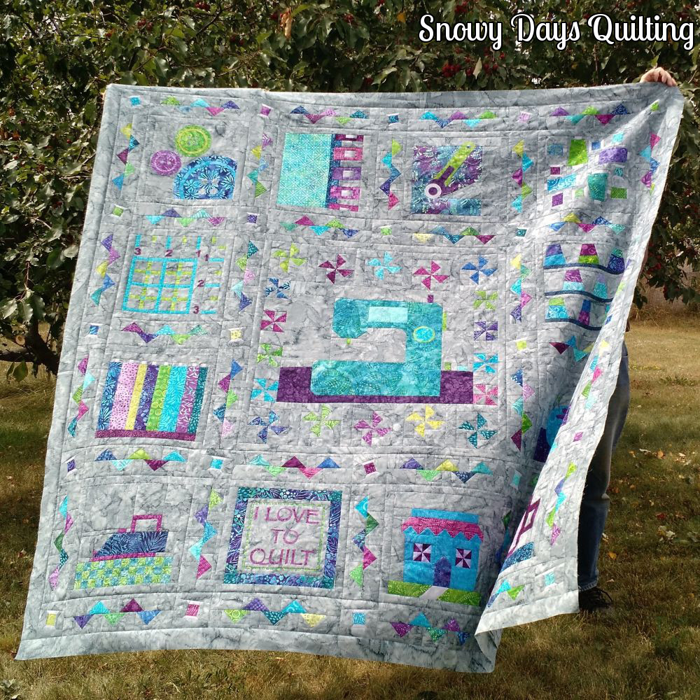 quilt blowing in the wind
