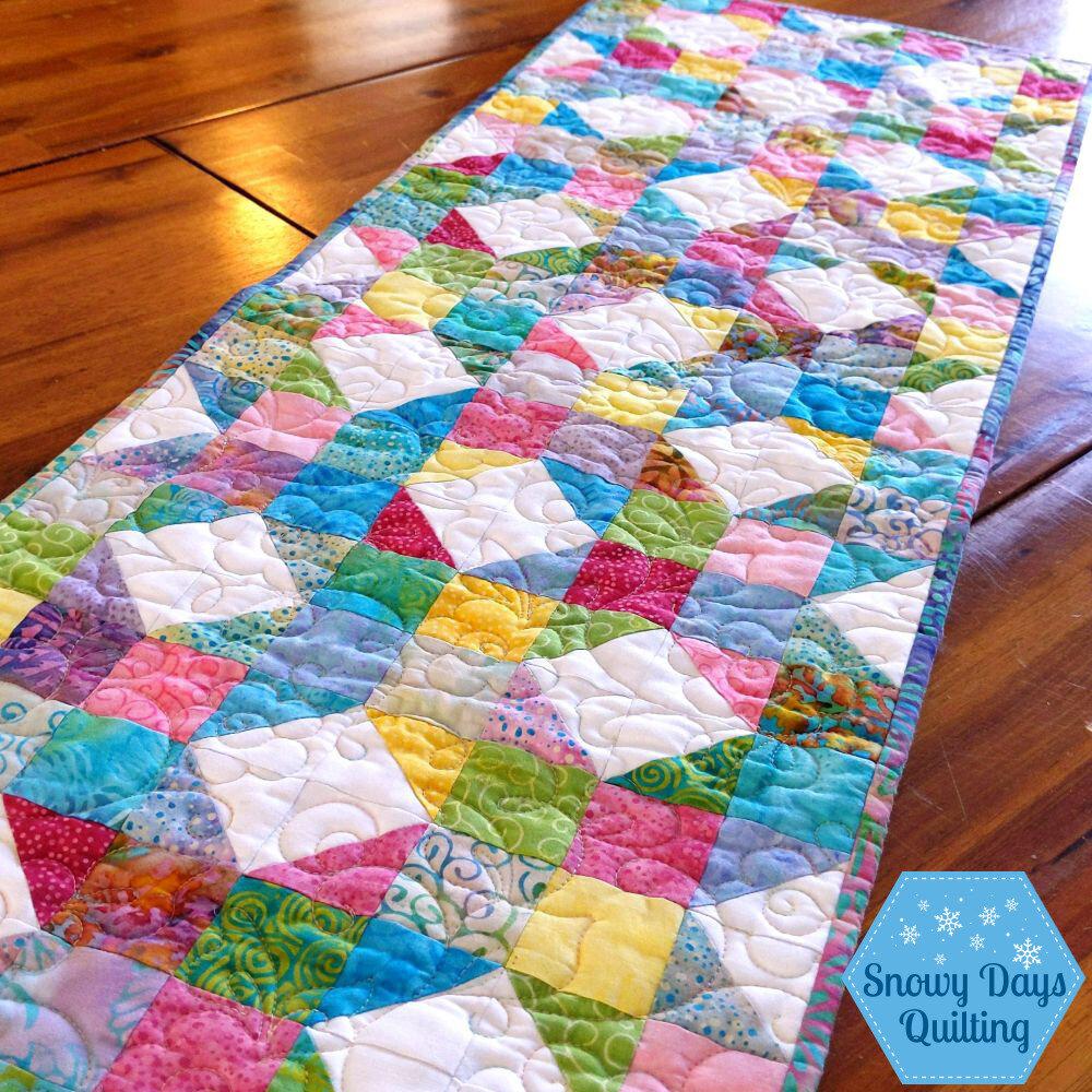 spring table runner quilt