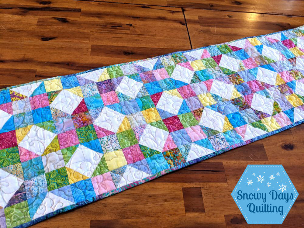 charm pack table runner quilted