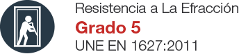 Puerta de Seguridad Acorazada Certificada - Resistencia a la Efracción GRADO 5 según norma UNE EN 1627:2011