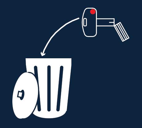 Recomendamos que la llave de instalación/obra sea destruida. Tírela a la basura para no confundirla con las llaves definitivas.