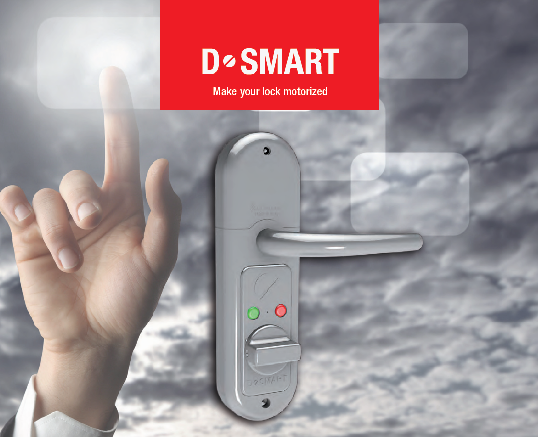 D·SMART - Con D-SMART puede automatizar su Puerta de Seguridad Acorazada SegureStil, simplemente instalando el dispositivo a Batería o fuente de alimentación de red.Haga su cerradura inteligente y controle lapuertas directamente desde su smartphone o desde el tablet.D-SMART le permite tener un control de Accesos efectivo y fiable.Permite abrir cerraduras remotas, organizar y programar permisos de acceso, cierre automático y más.