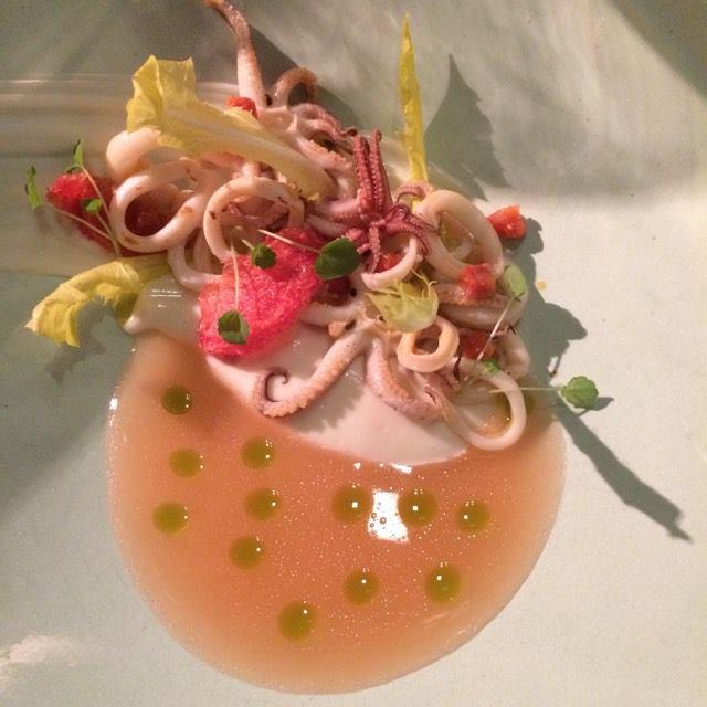 calamar, jelly...une merveille de saveurs!  LE DÉLICE La Brasserie , chef  Andreas Donnerbauer