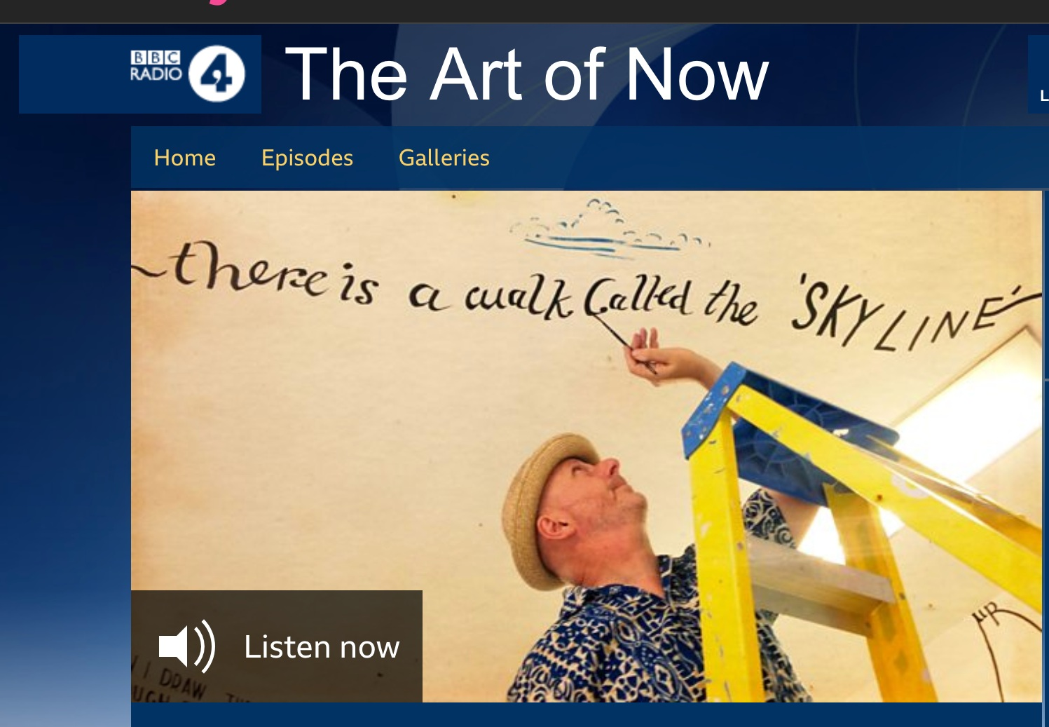 BBC Radio 4 - The Joy Of Text .   Text, language and art. From monks, to conceptual subversives, Bob and Roberta Smith draws on a wide range of traditions and re-examines his own formative experiences with the interplay of words, colour and form to bring listeners into the present.