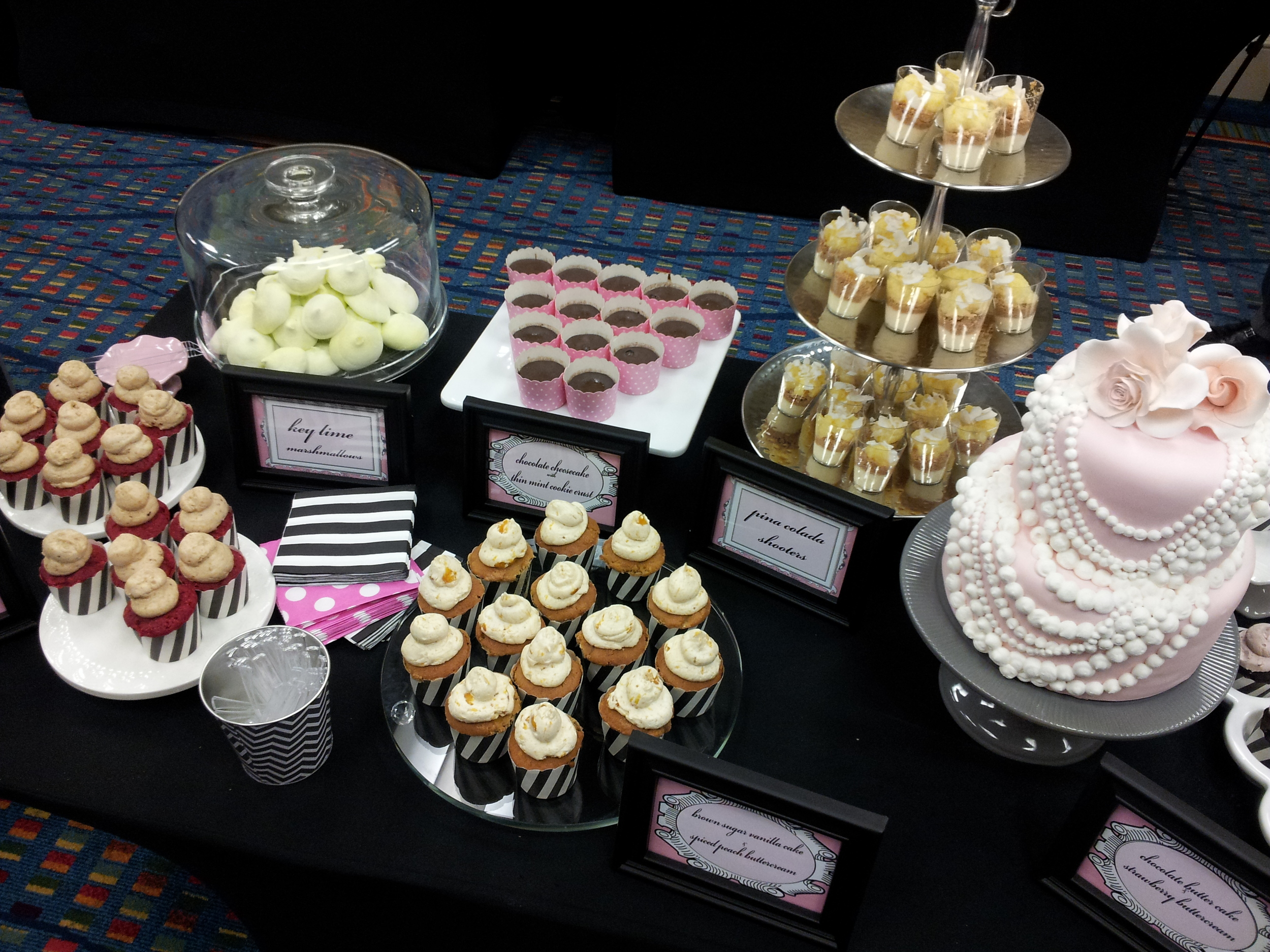 pretty in pink dessert bar
