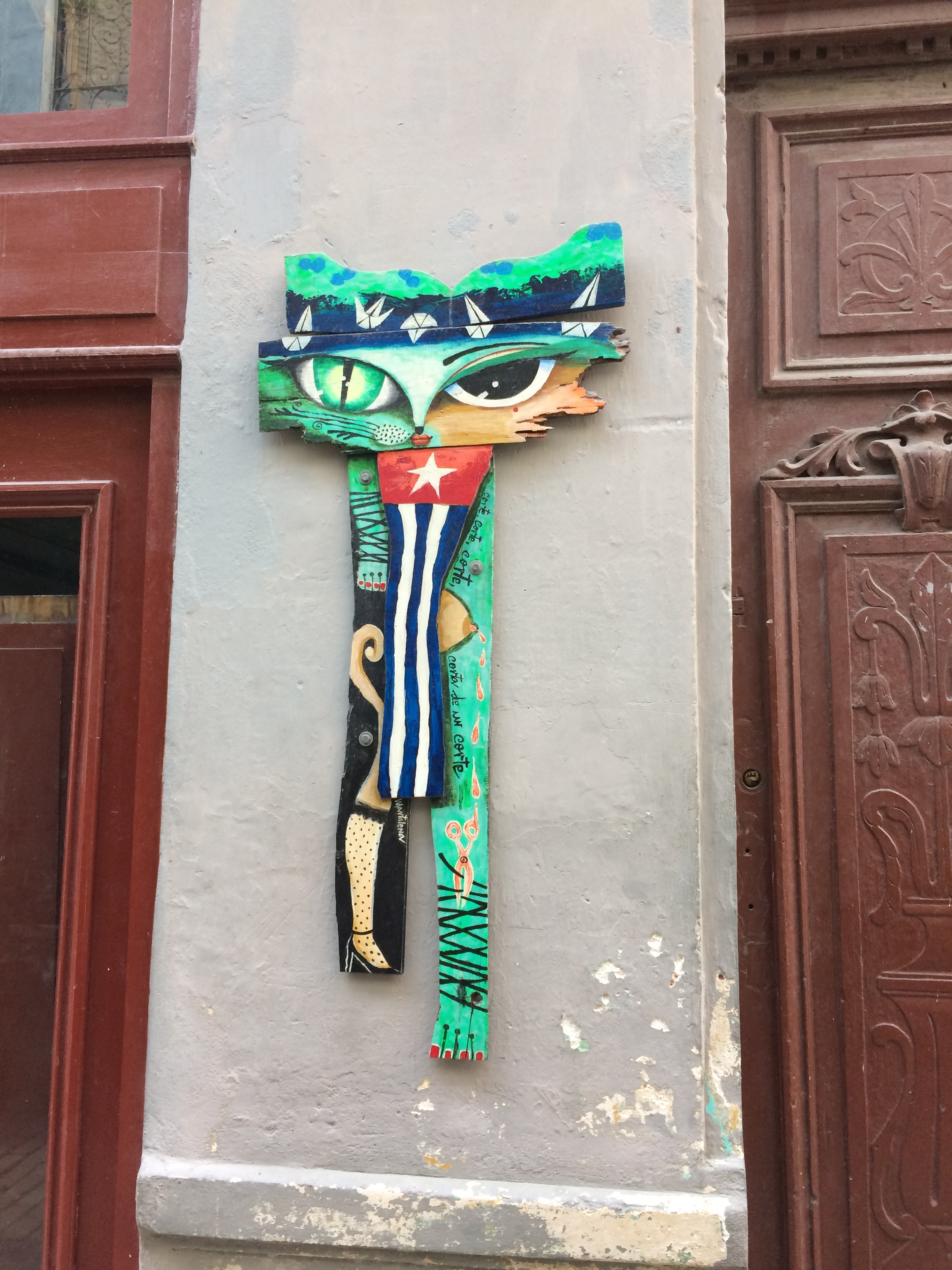 Public art in Old Havana—the barbers' neighborhood