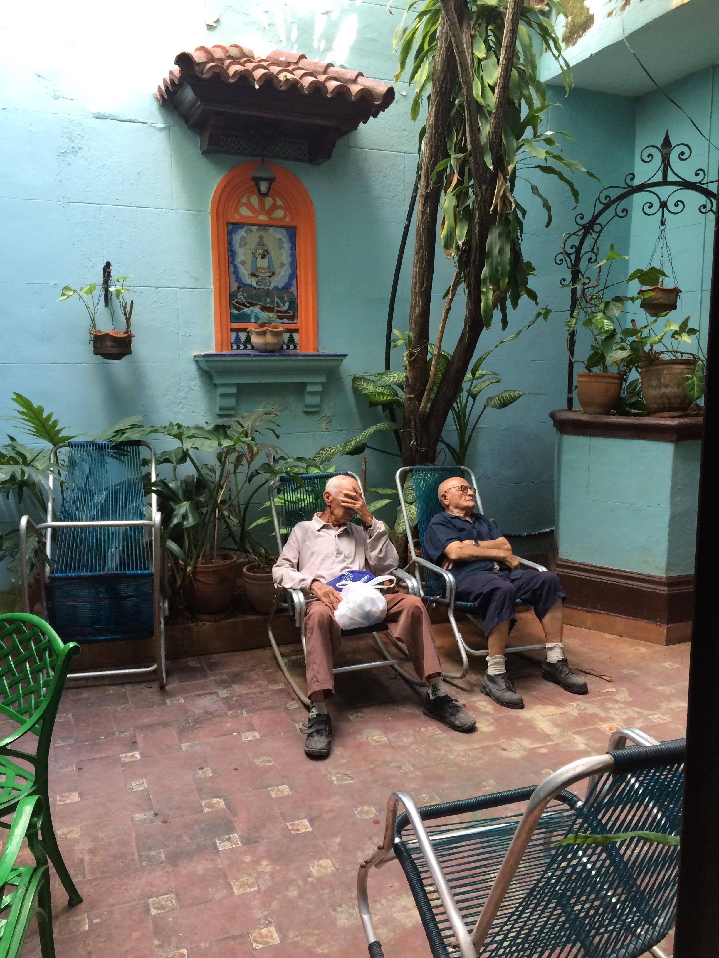 An elders' day center