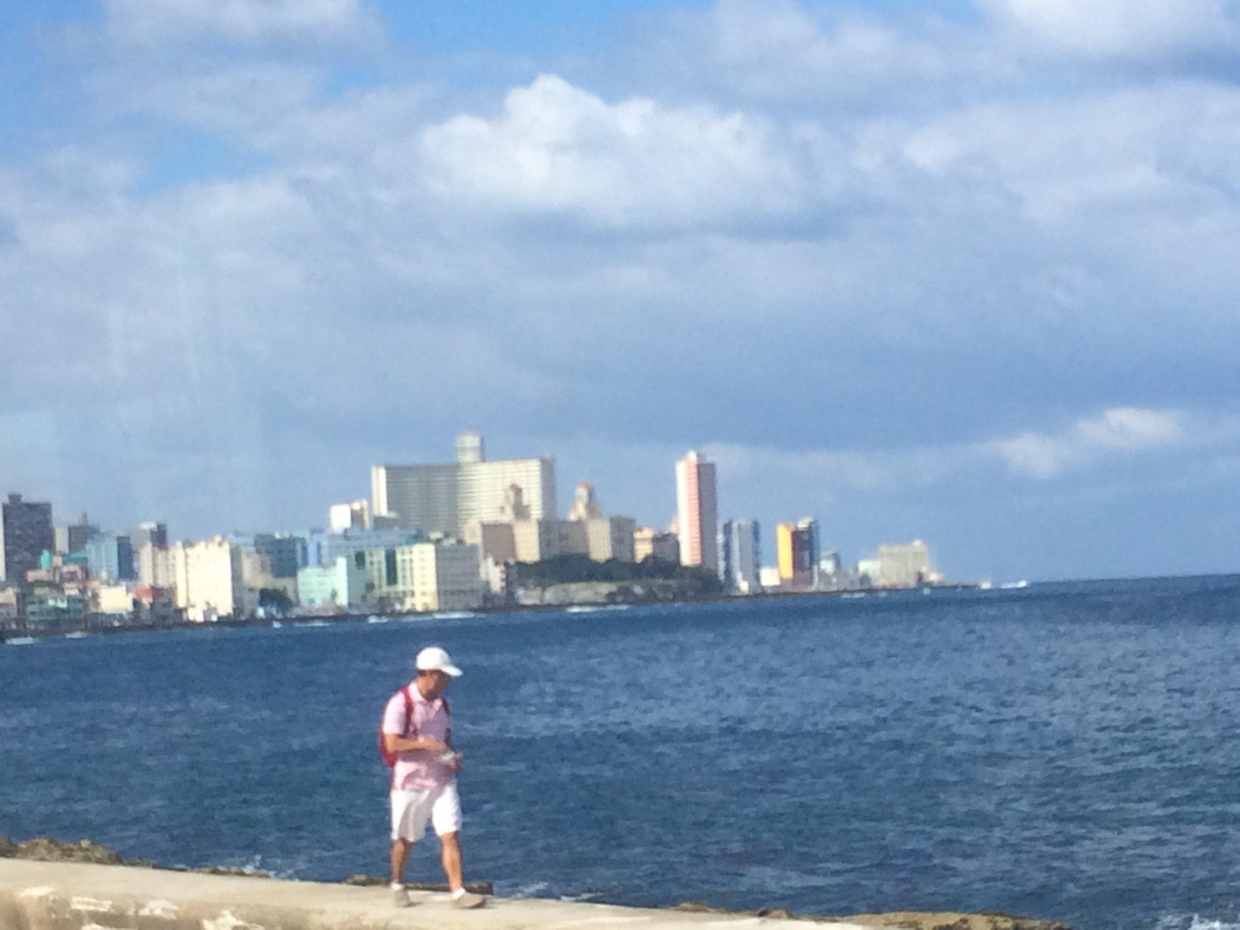 Havana skyline, from the bus