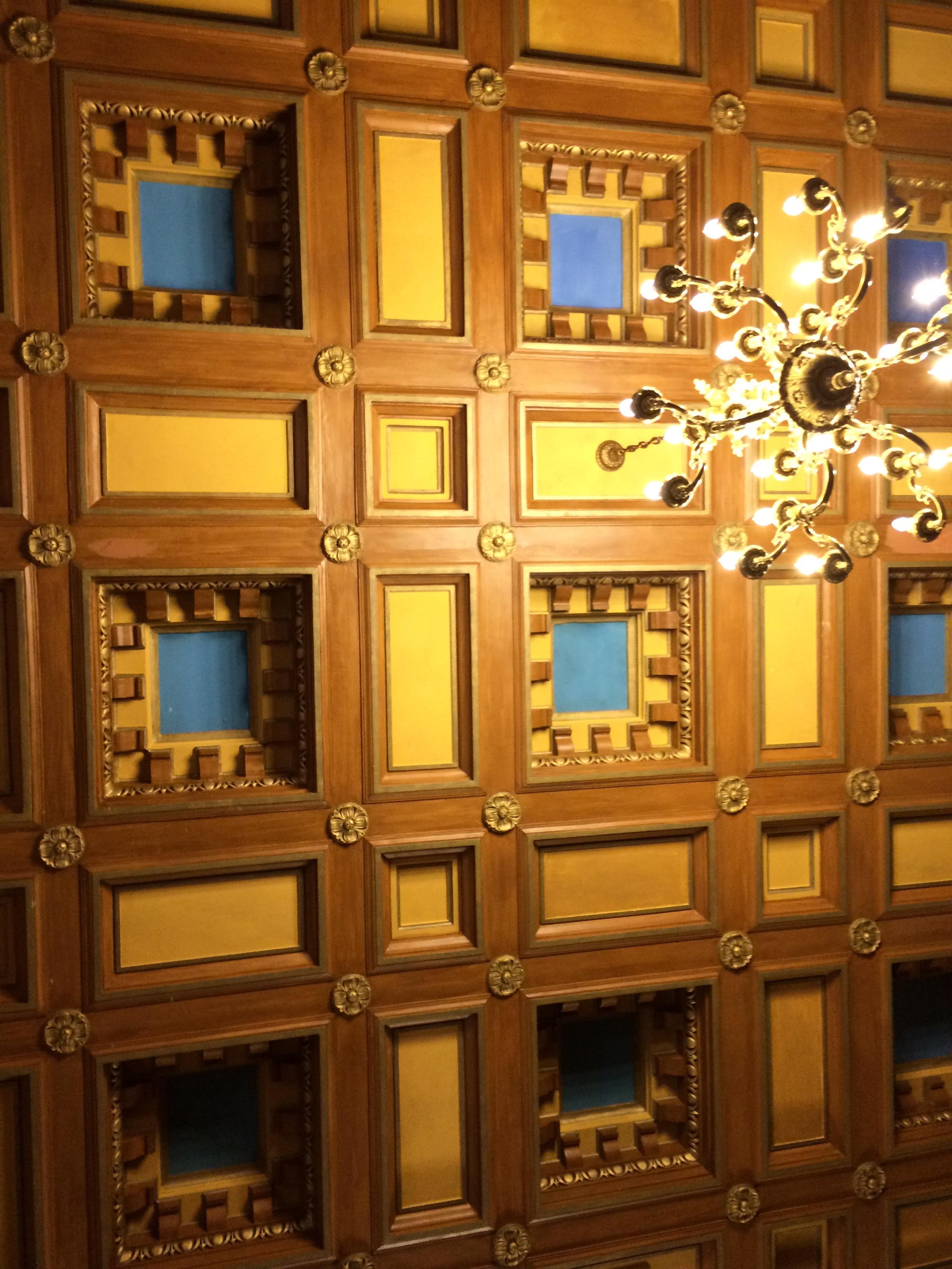 Hotel meeting room ceiling