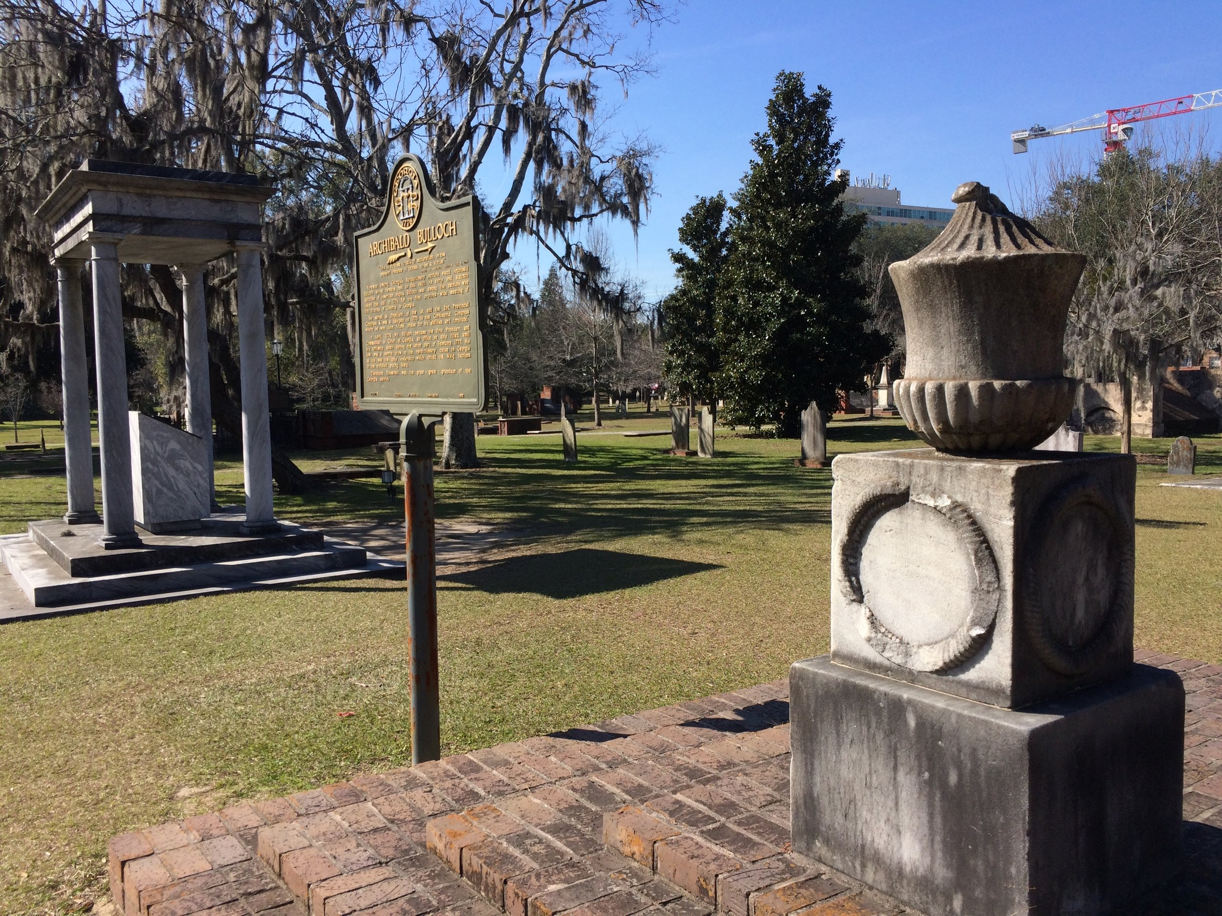 Colonial Period cemetery near our VRBO apartment.