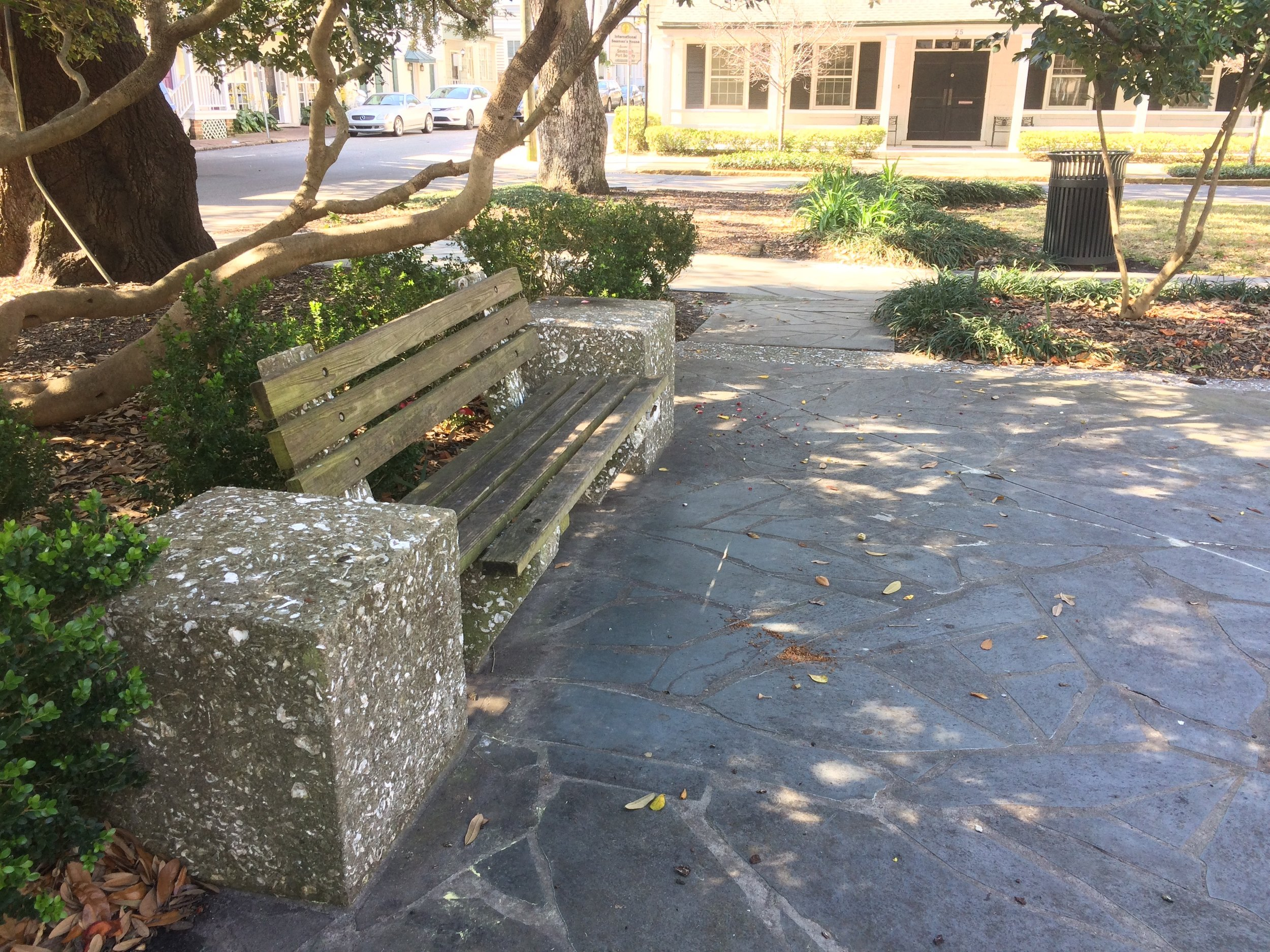 """An example of """"tabby,"""" concrete with shells mixed in—we saw it everywhere."""