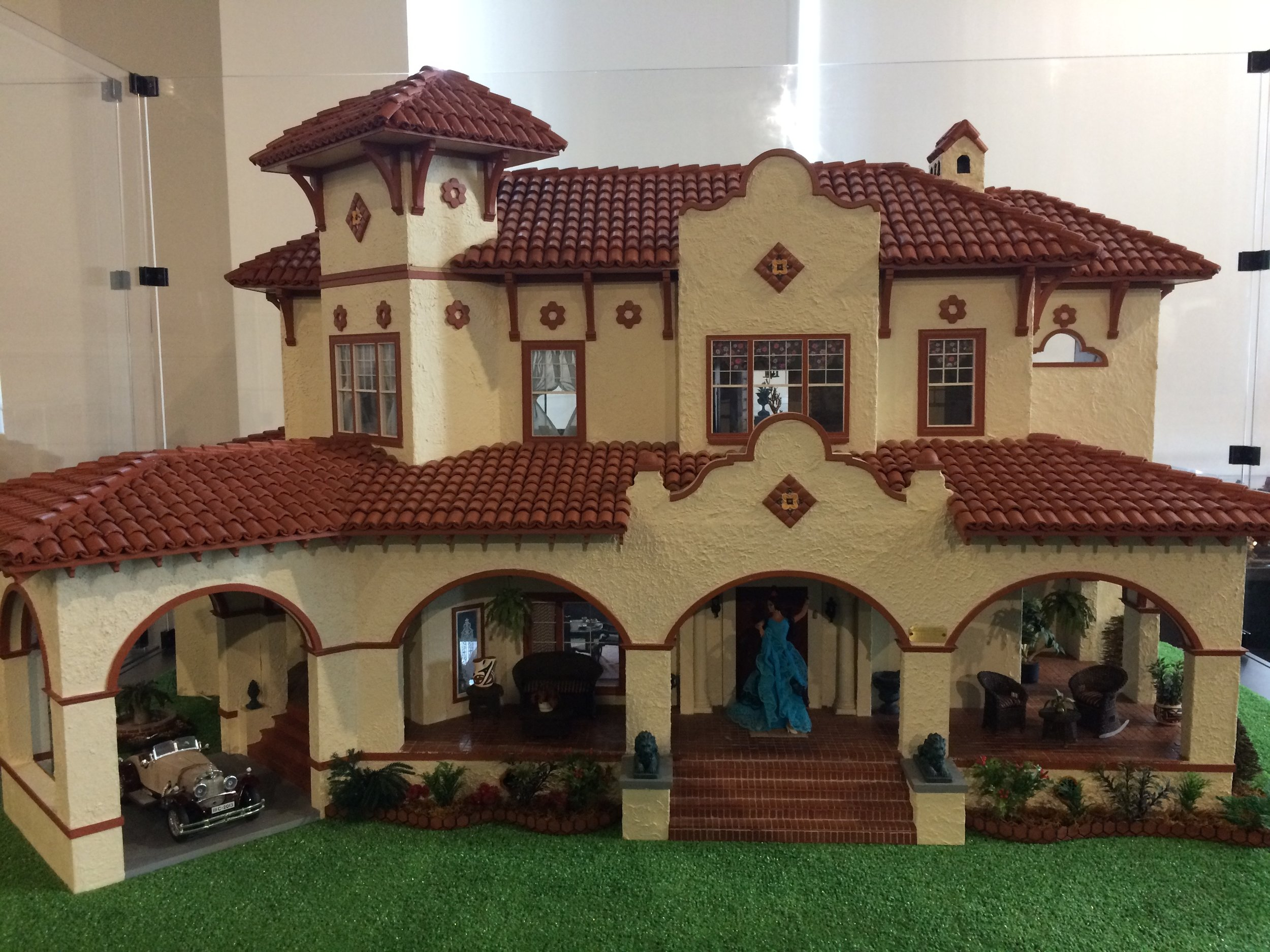The collection includes this replica of a house in my Opelika neighborhood...