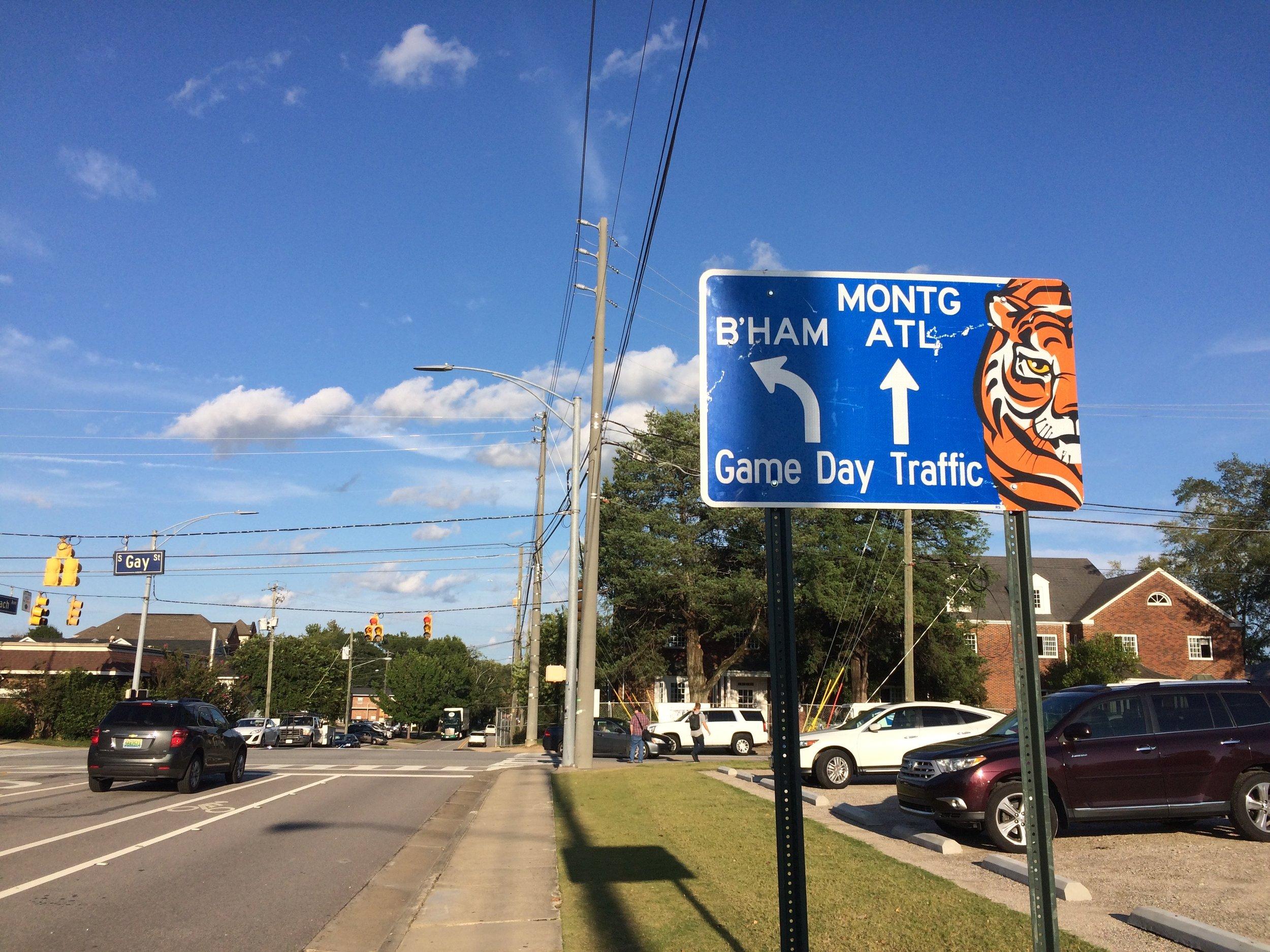 Football season tourism is a mainstay of Auburn's economy.