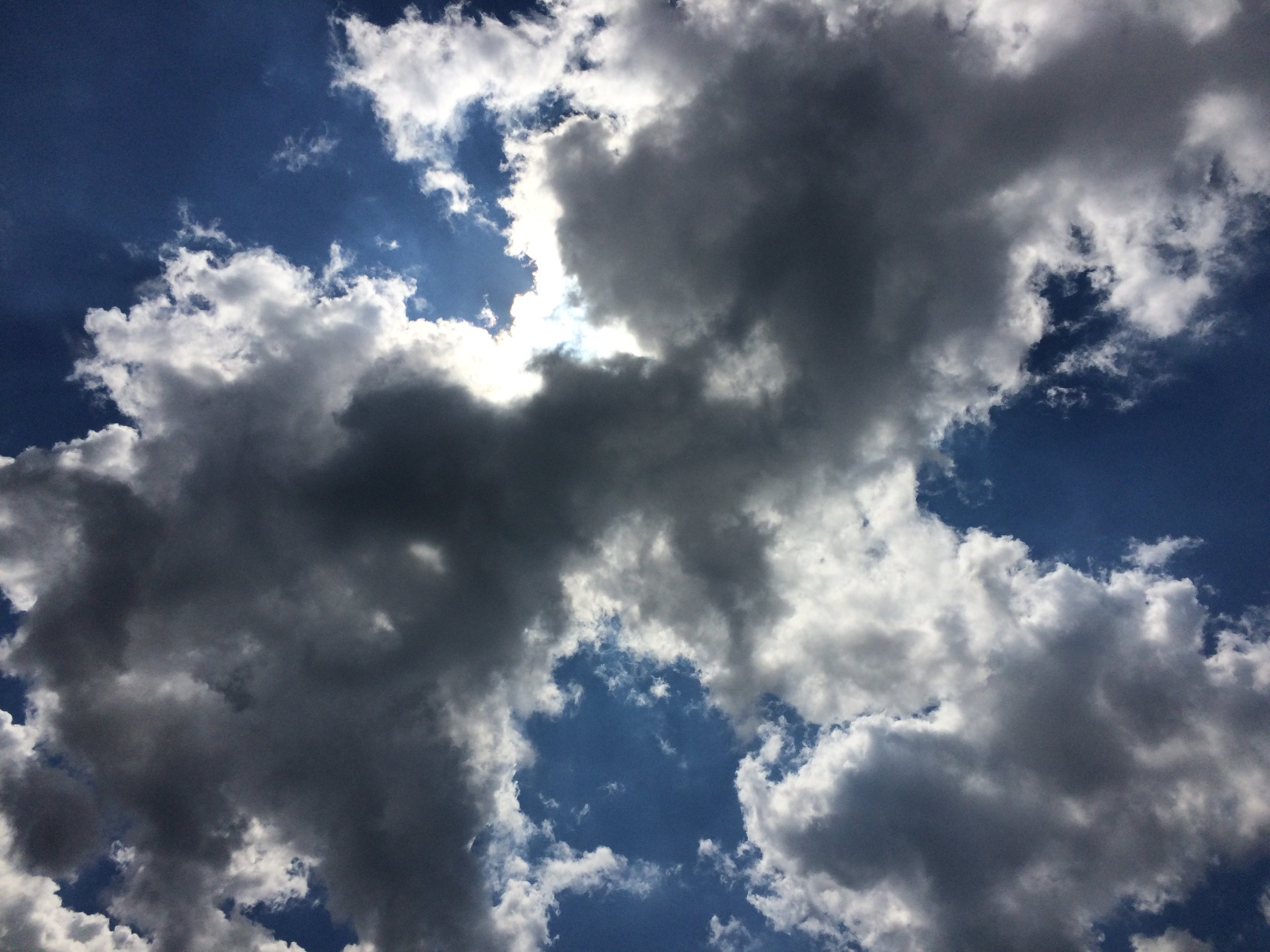 Sultry late summer sky