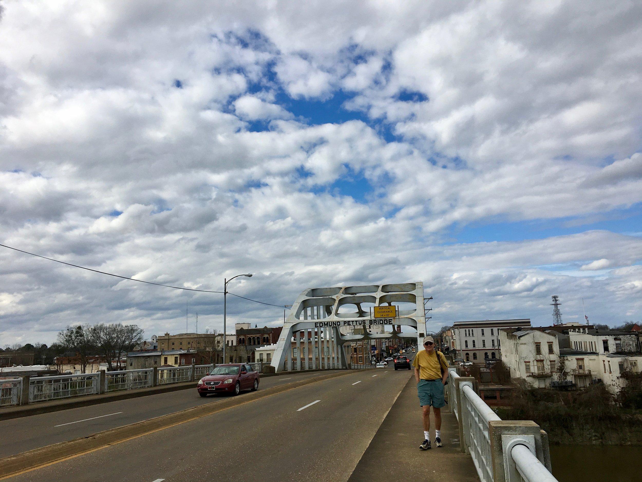 Edmund Pettus Bridge, heading toward downtown Selma