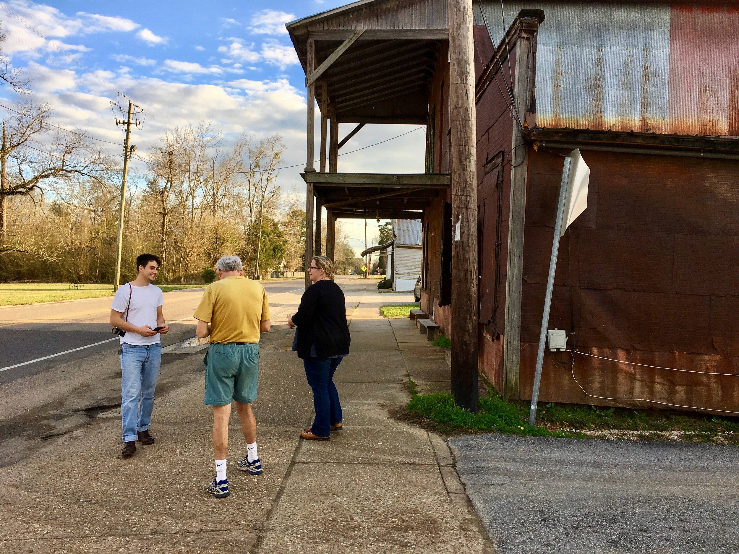 We got a tour of projects in Newbern from staff member Natalie, along with another visitor.