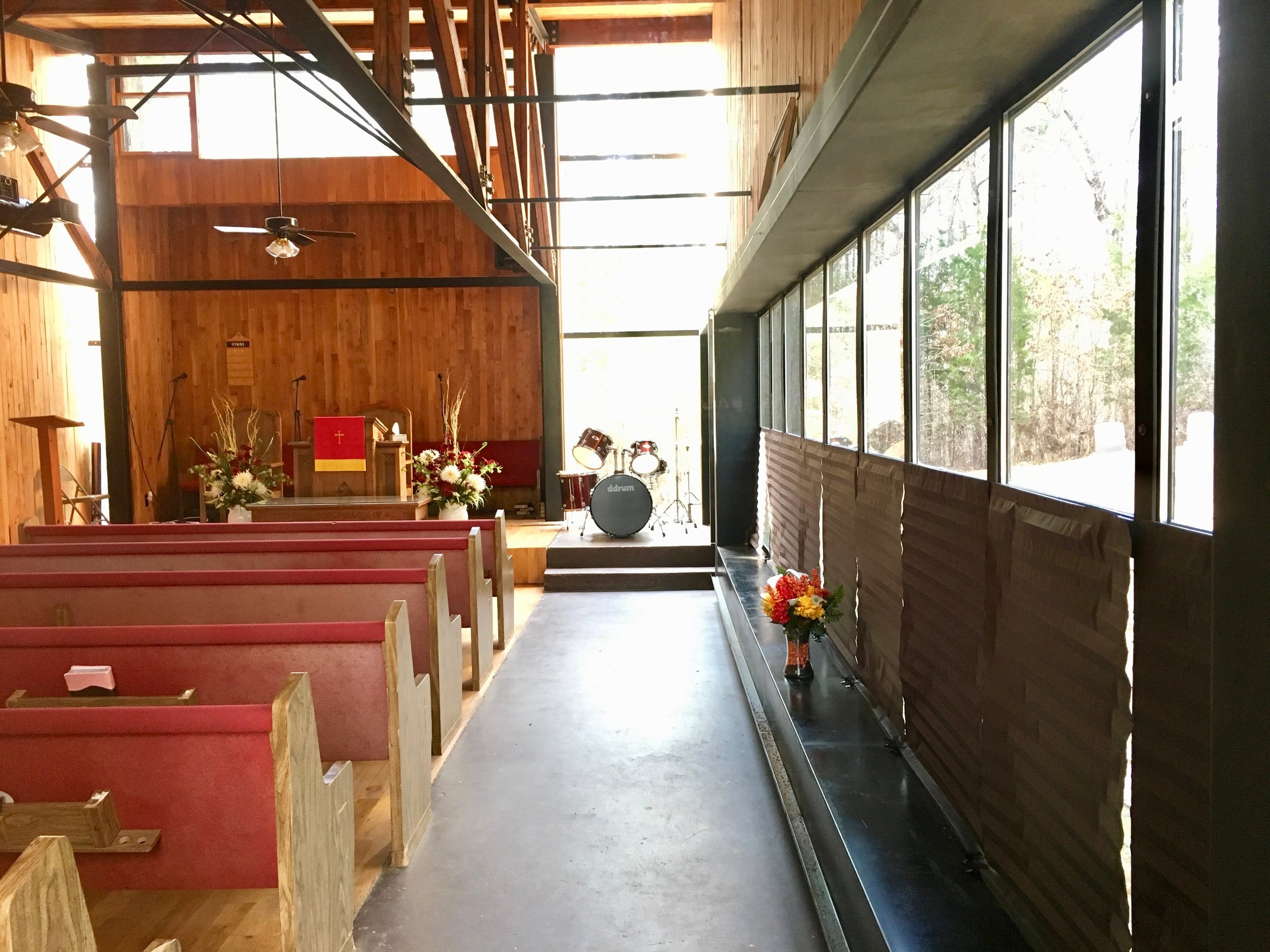 Antioch Baptist Church outside of Greensboro