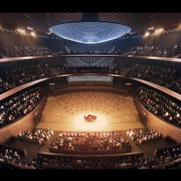 A model of the inside of the new Brno concert hall. Can't wait to record there!