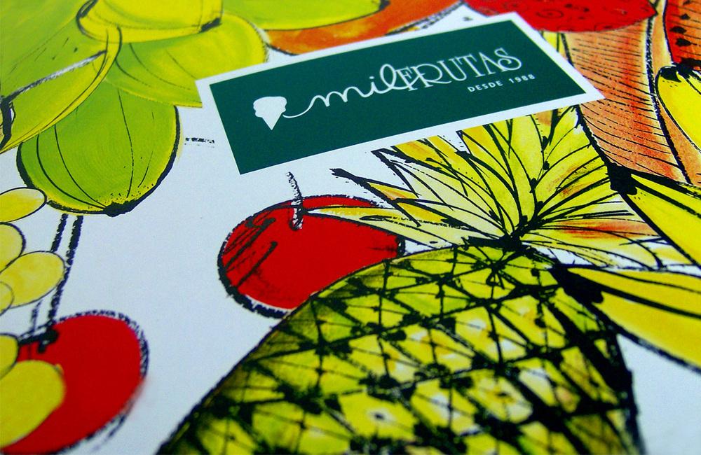Mil Frutas - Criação, concepção e diagramação de todo o material impresso da grife de sorvetes carioca Mil Frutas. Agência: Tiralinhas/EGMC