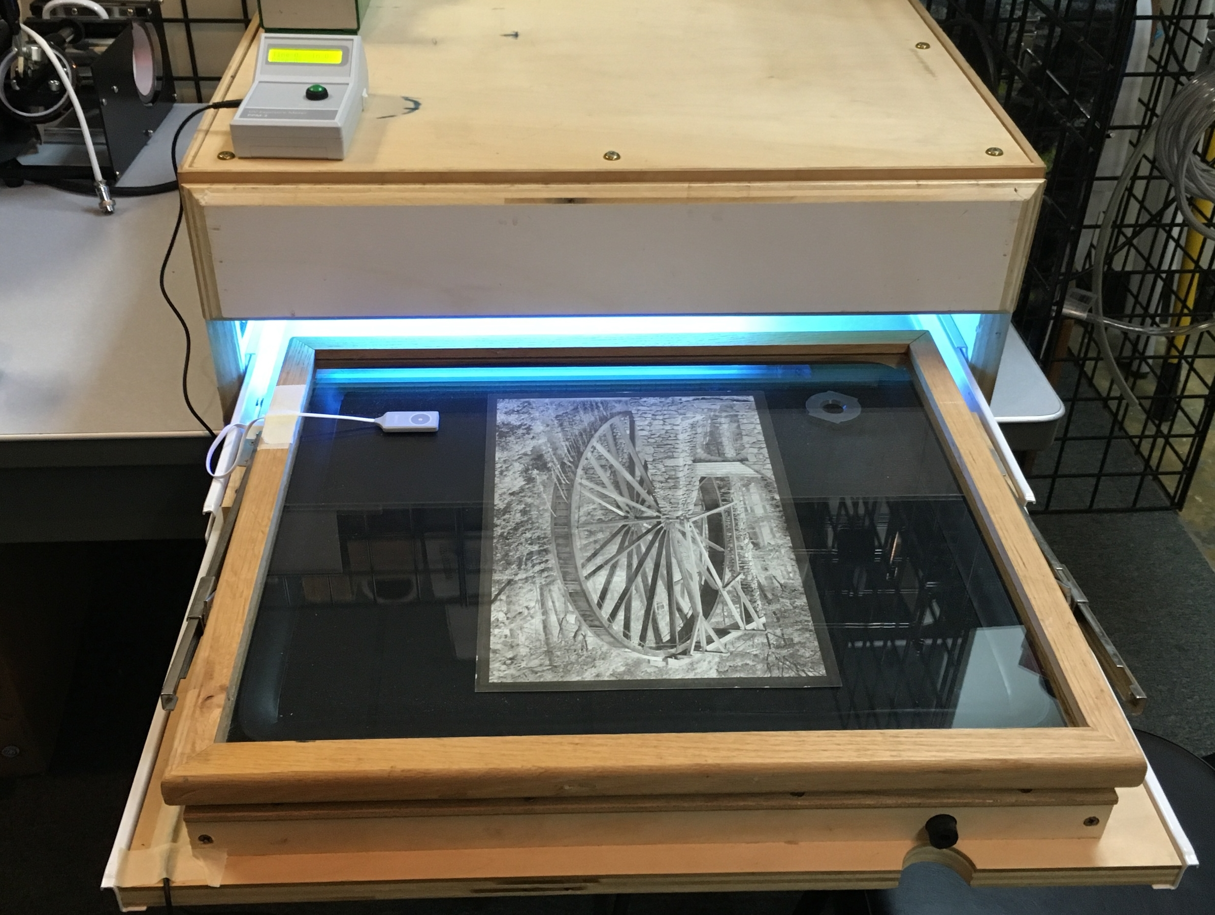 PPM-2 with a vacuum exposure frame for Van Dyke Brown and Platinum/Palladium printing - courtesy of   Mark Hilliard  , South Carolina