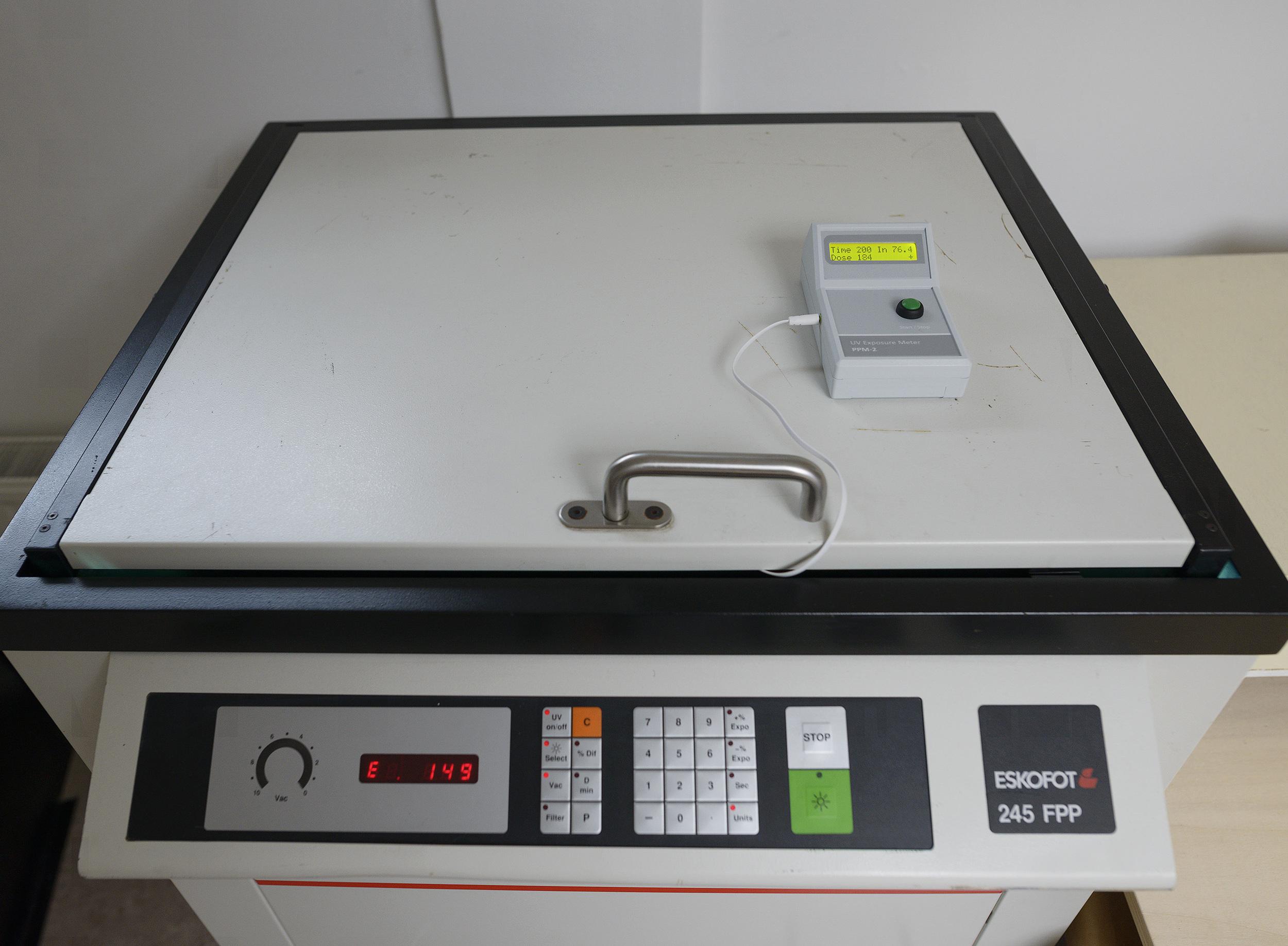 PPM-2 monitoring exposure with an Eskofot plate burner  - courtesy of    Kees Brandenburg   , Netherlands