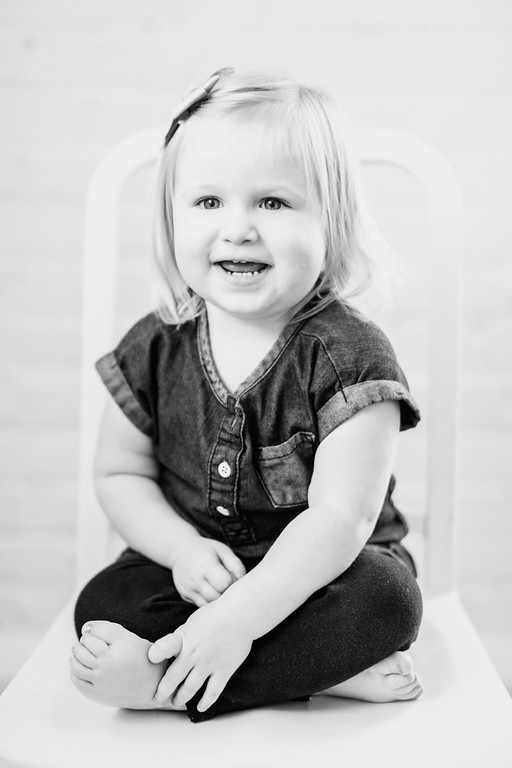 little girl casual seated portrait