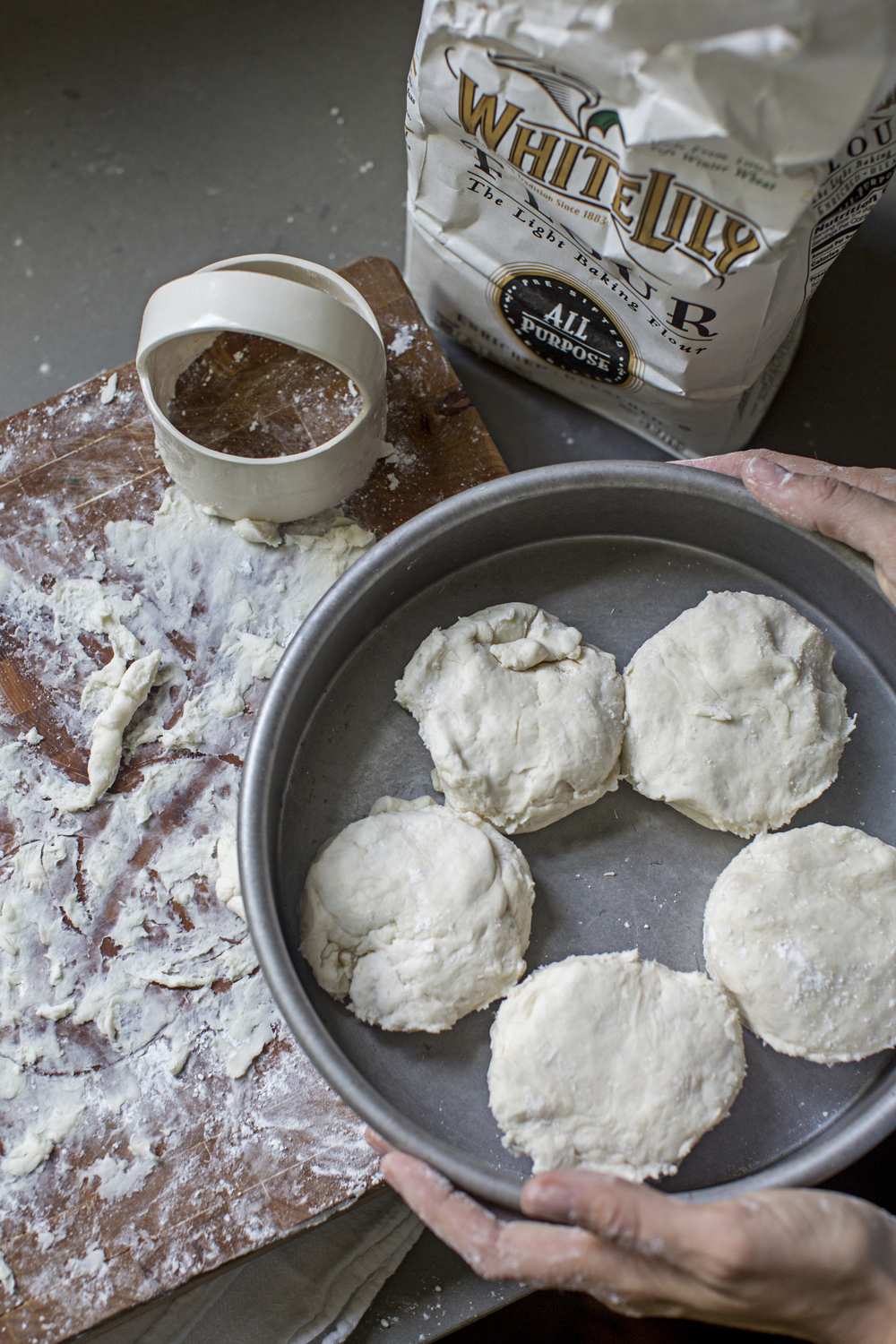 cut biscuits white lily flour