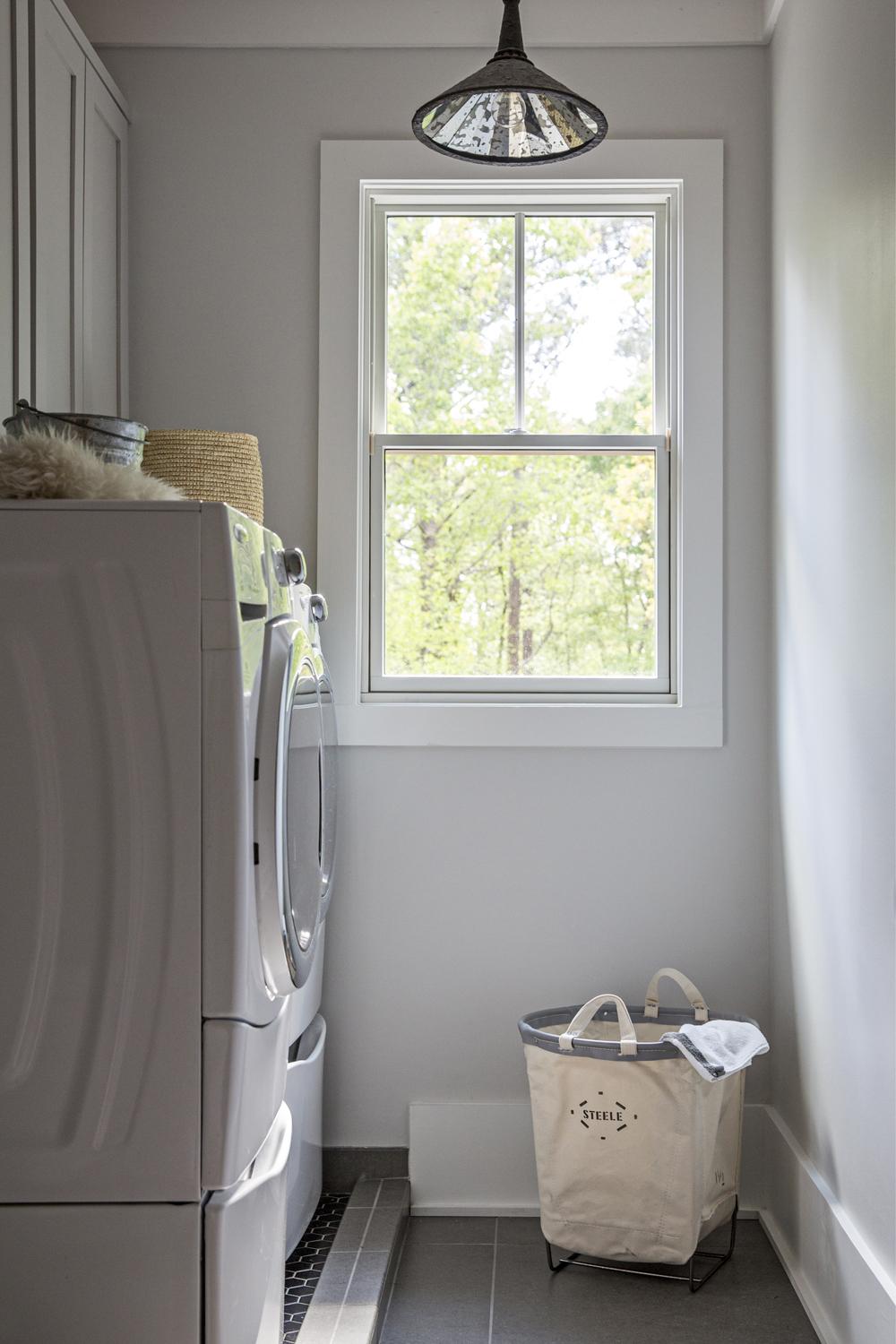 neutral laundry room
